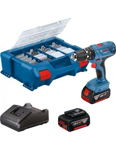 Taladro/atornillador batería Bosch GSB 18-21 2X2.0 Ah