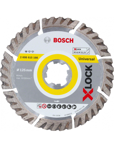 Disco diamante universal Bosch X-LOCK 125 mm