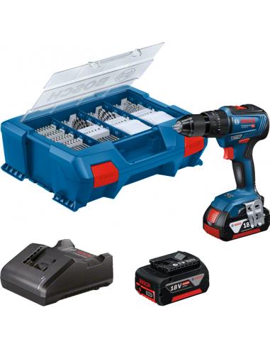 Taladro/atornillador Batería Bosch GSB 18V-55 2x4.0 Ah